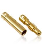 Gold Konektor banan 3,0 mm  - Para