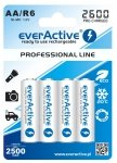 Akumulatorki everActive R6/AA Ni-MH 2600 mAh ready to use  1bl