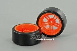 TRAXXAS - komplet kół 1,9 Drift - tył - pomarańczo