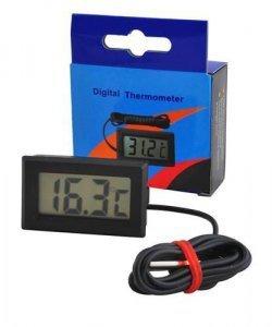 Miernik - Termometr LCD z sondą w obudowie