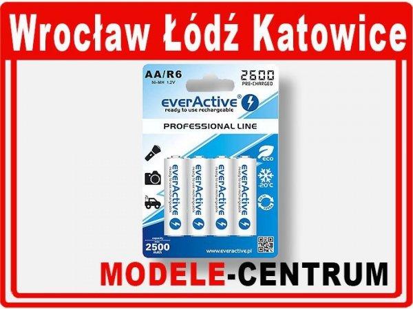 Akumulatorki everActive R6/AA Ni-MH 2600 mAh ready to use  1bl