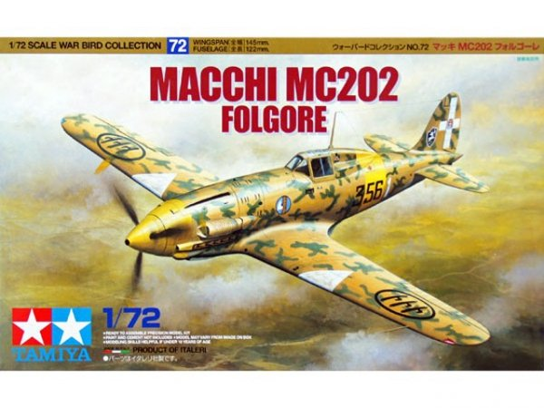 Tamiya 60772 MACCHI MC202 FOLGORE 1/72