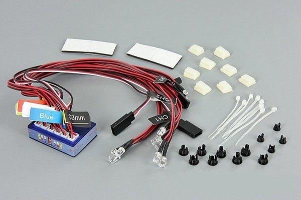 Oświetlenie samochodu LED w skali 1/10 ze sterowan