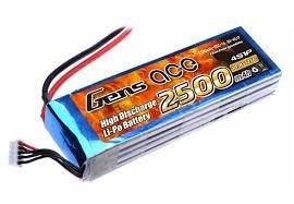 Gens Ace: 2500mAh 14.8V 25C Akumlator