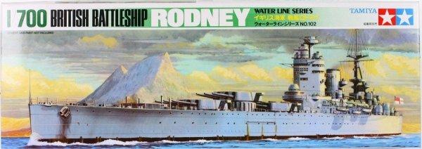 Tamiya 77502 Rodney 1:700 - pancernik brytyjski