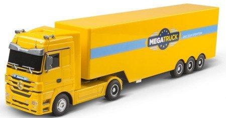 Ciężarówka RC Mercedes-Benz ŚWIATŁA DŹWIĘK 1:32 żółta
