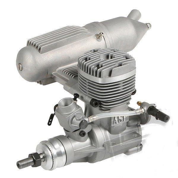 61 A II (10cm3) Silnik ASP S z tłumikiem