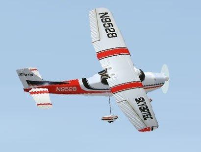 Cessna 182 LCD 2.4GHz RTF 980mm z gyro