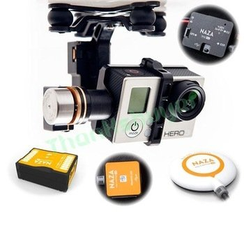 Dron Quadrocopter DJI F450 + Naza-M V2 + GPS + Gimbal H3-3D  zestaw