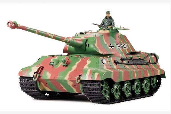 Czołg German King Tiger Porsche 1:16 Dym Heng Long