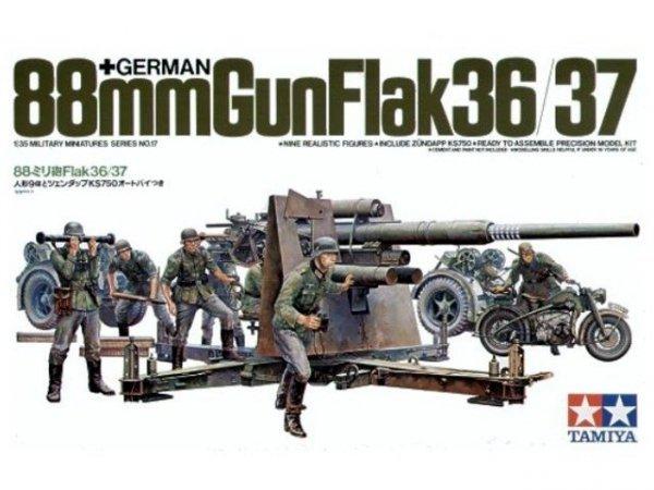 Tamiya 35017 88 MM GUN FLAK 36/37 1/35