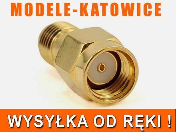 Przejście - RP-SMA plug na RP-SMA jack - adapter 1