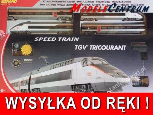 Zestaw Startowy Kolejka MEHANO T110 H0  TGV TRICOU