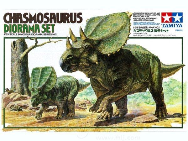TAMIYA 60101 - 1:35 Chasmosaurus Diorama Set