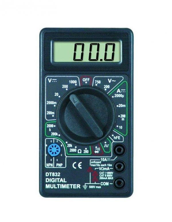 Miernik Uniwersalny DT-832 - buzzer - wielozakresowy multimetr