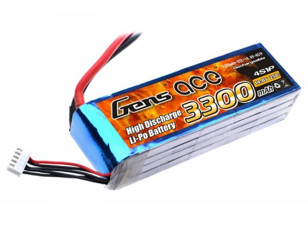 Gens Ace: 3300mAh 14.8V 25C Akumlator
