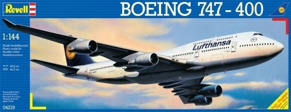 REVELL 04219 BOEING 747-400 1:144