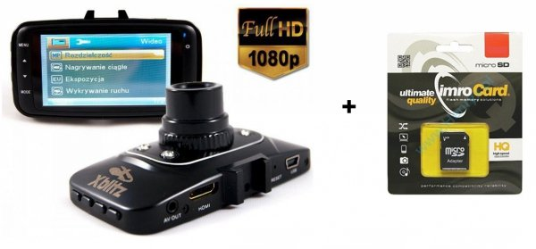 Rejestrator trasy Xblitz CLASSIC + Karta 16GB