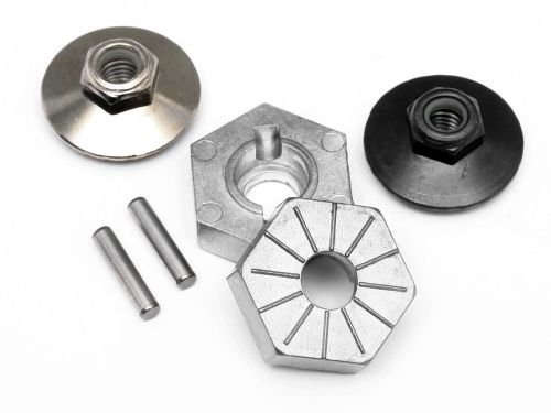 17MM HEX HUB SET (4PCS 2/LOCK NUTS)