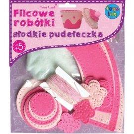 Filcowe słodkie pudełeczka, różowe