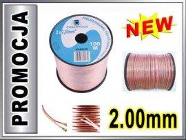 KAB0359 Kabel głośnikowy CCA 2x2.00mm CABLETECH 1m
