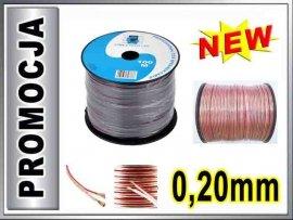 KAB0352 Kabel głośnikowy CCA 2x0.20mm CABLETECH 1m