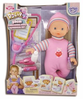 8602 LALKA 36CM DOLL WITH DOCTOR