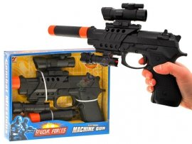 JKM ZA1201 Pistolet CELOWNIK tłumik LATARKA laser