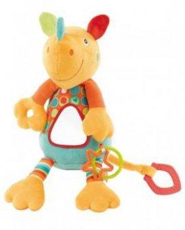 FEHN FE085020 Zabawka wibrująca z lusterkiem - Nosorożec - kolek
