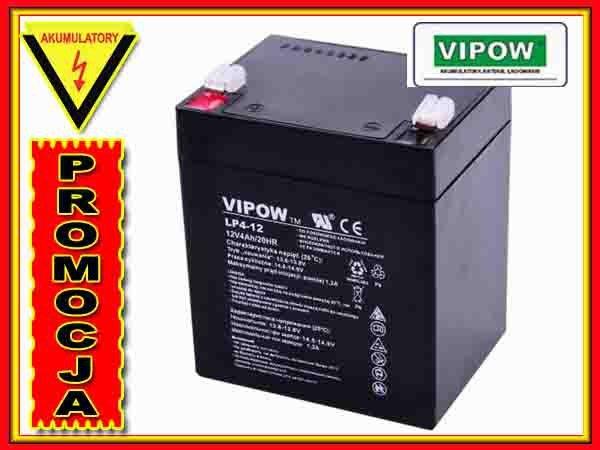 BAT0210 Akumulator żelowy VIPOW 12V 4.0Ah