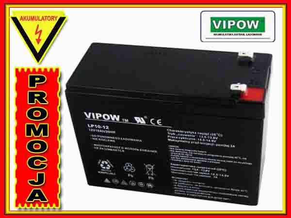 BAT0215 Akumulator żelowy VIPOW 12V 10Ah