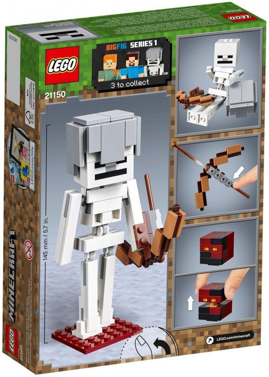 3e15723f3 LEGO MINECRAFT BIGFIG - SZKIELET Z KOSTKĄ MAGMY 21150 7+ - Minecraft ...