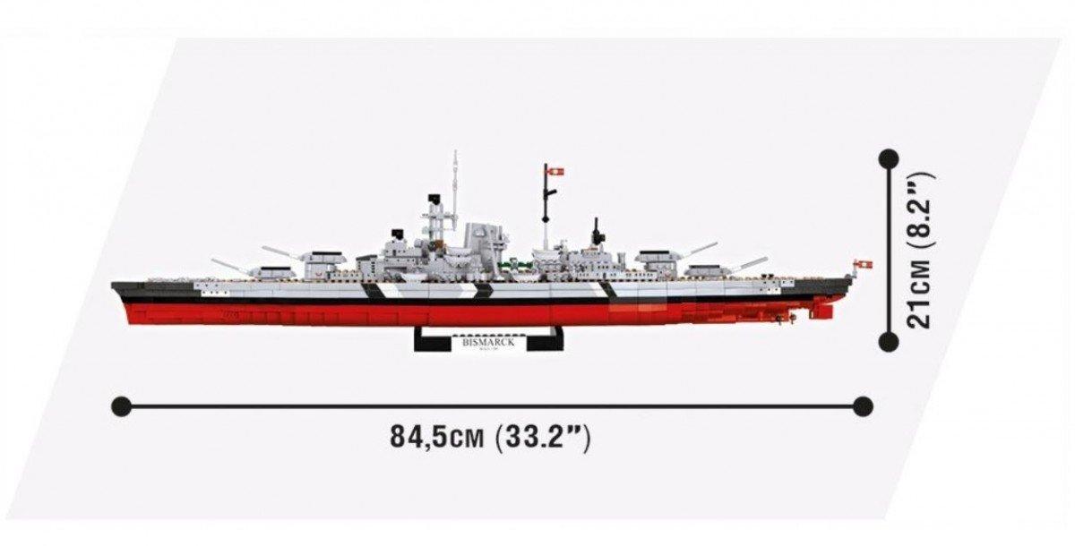 Battleship Bismarck Cobi blocks Small Army
