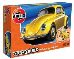 AIRFIX MODEL PLASTIKOWY QUICKBUILD VW BEETLE YELLOW 5+