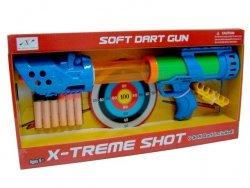 BRIMAREX X-TREME SHOT PISTOLET + STRZAŁKI 6+