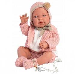 Lalka bobas Tina 43 cm w różowym sweterku