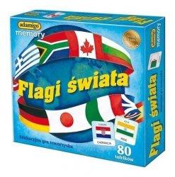 ADAMIGO GRA PAMIĘĆ MEMORY FLAGI ŚWIATA NOWA WERSJA 7+