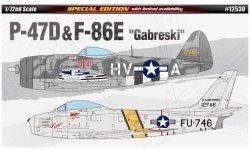 ACADEMY P-47 & F-86E GABERSKI SKALA 1:72