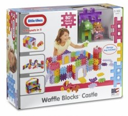 LITTLE TIKES KLOCKI WAFFLE BLOCKS ZAMEK 2+