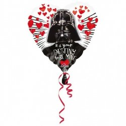 AMSCAN BALON FOLIOWY STANDARD - STAR WARS LOVE 3+