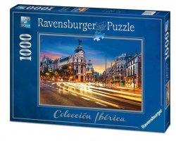 RAVENSBURGER 1000 EL. GRAN VIA MADRYT PUZZLE 14+