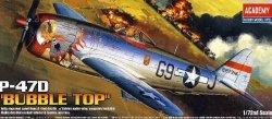 ACADEMY P-47D THUNDERBOLT BUBBLETOP SKALA 1:72 8+