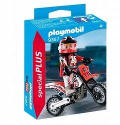 PLAYMOBIL FIGURKA KIEROWCA MOTOCROSSOWY 9357 4+