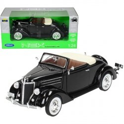 WELLY FORD DELUXE CABRIO 1936, CZARNY SKALA 1:24