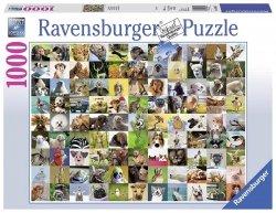 RAVENSBURGER 1000 EL. 99 ZABAWNYCH ZWIERZĄT PUZZLE 14+
