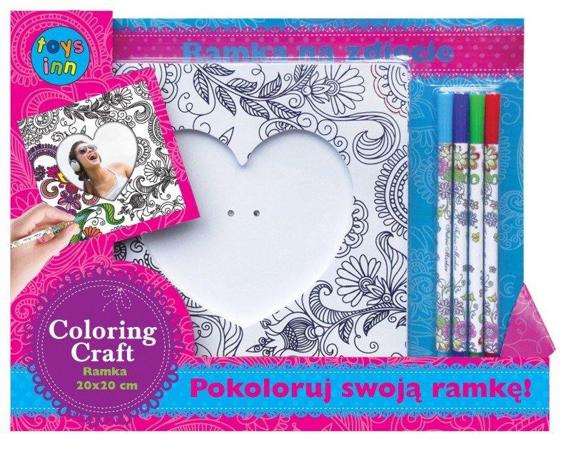 Stnux Ramka Do Kolorowania Serce 4 Markery 3 Prace Ręczne
