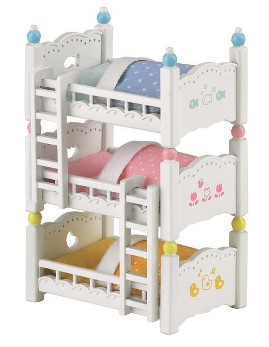 Sylvanian Families Potrójne łóżko Piętrowe 4448 3