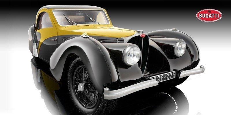 BAUER MODELS BUGATTI TYPE 57SC ATALANTE 1937 (YELLOW) SKALA 1:12 - Pozostałe - Samochody ...