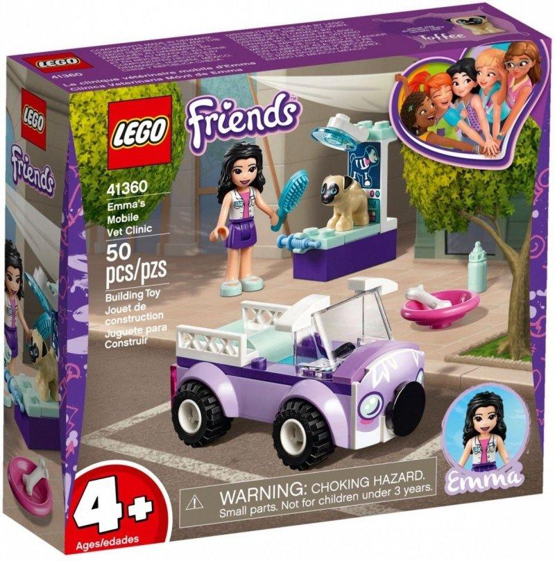 LEGO FRIENDS MOBILNA KLINIKA WETERYNARYJNA EMMY 41360 4+