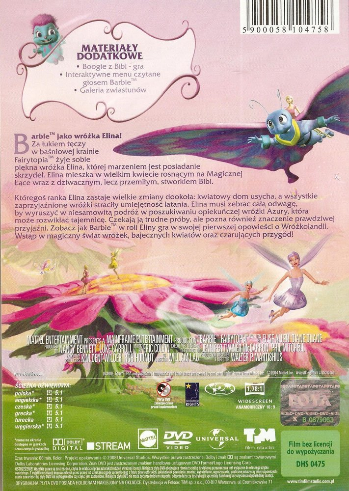 BARBIE - WRÓŻKOLANDIA (Barbie - Fairytopia) (DVD)